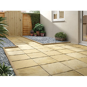 Marshalls Pendle Riven Buff Paving Slab 450 x 450 x 32 mm