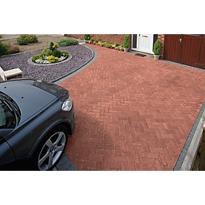 Marshalls Driveline Priora Driveway Block Paving - Red 200 x 100 x 60mm Pack of 404
