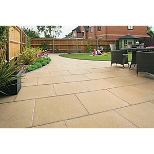 Marshalls Perfecta Smooth Buff Paving Slab 600 x 600 x 35 mm - 10.8m2 pack