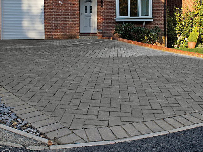 Marshalls Block Paving Charcoal