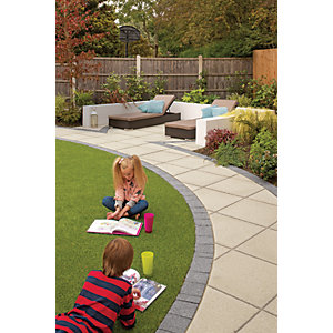 Marshalls Saxon Textured Natural Paving Slab 450 x 450 x 35 mm - 12.2m2 pack