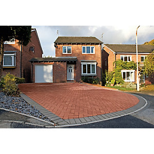Marshalls Driveway Block Paving Pack - Red 200 x 100 x 50mm Pack of 488