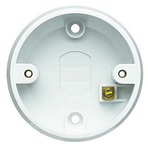 MK Ceiling Switch Mounting Box - White 6A & 16A