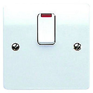 Mk 20a Neon Switched Flex Outlet White