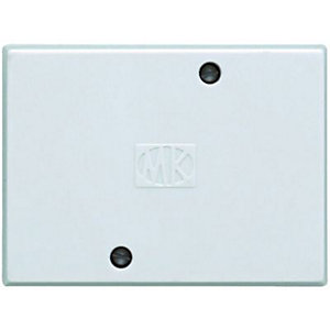 MK 3 Terminal Square Junction Box - White 30A