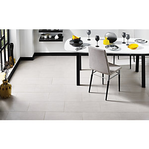 Image of Wickes Basaltina Wall & Floor Tile - White 600 x 300mm