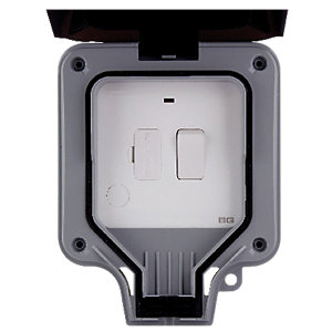 Masterplug 13A Exterior Switched Fused Unit - Grey