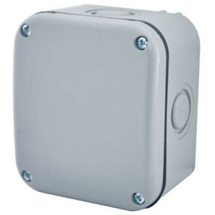 Masterplug Small Exterior Junction Box - Grey | Wickes.co.uk
