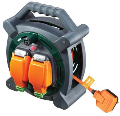 Masterplug Weatherproof Garden Extension Cable Reel 20m 10a Wickes Co Uk