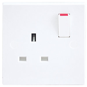 BG Single Double Pole Switched Power Socket - 13A White