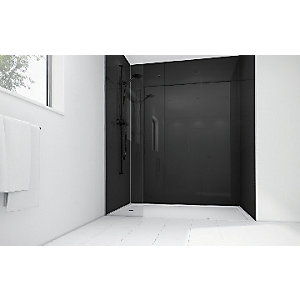 Mermaid Black Acrylic Single Shower Panel