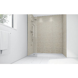 Mermaid Sorento Marble Laminate 2 Sided Shower Panel Kit