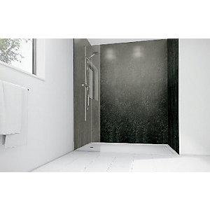 Mermaid Lead Laminate 3 Sided Shower Panel Kit
