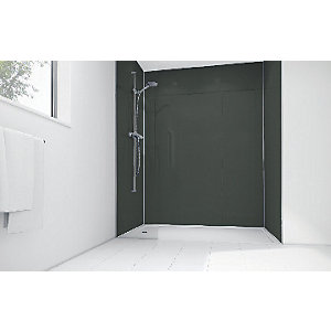 Image of Mermaid Black Diamond Acrylic 3 sided Shower Panel Kit 1200mm x 900mm