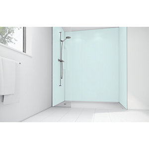 Mermaid Mint Matt Acrylic Single Shower Panel