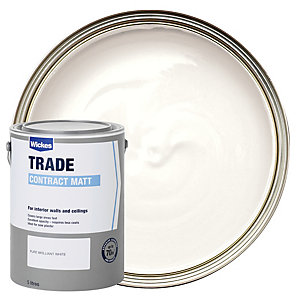 Wickes Trade Contract Matt Emulsion Pure Brilliant White 5L