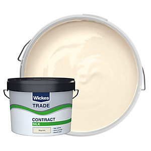 Wickes Trade Contract Silk Emulsion Magnolia 10L