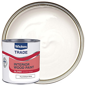 Wickes Trade Liquid Gloss Pure Brilliant White 1L