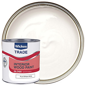 Wickes Trade Quick Dry Gloss Pure Brilliant White 1L