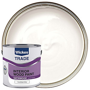 Wickes Trade Quick Dry Satinwood Pure Brilliant White 2.5L