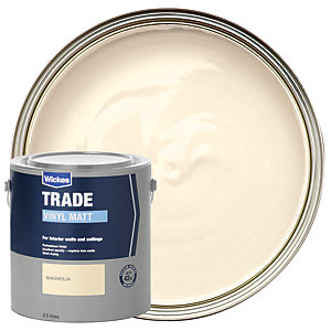 Wickes Trade Vinyl Matt Emulsion Paint - Magnolia 2.5L