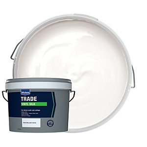 Wickes Trade Vinyl Silk Emulsion Paint - Pure Brilliant White 10L