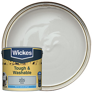 Wickes Nickel - No. 205 Tough & Washable Matt Emulsion Paint - 2.5L