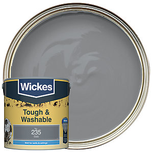 Wickes Slate - No. 235 Tough & Washable Matt Emulsion Paint - 2.5L