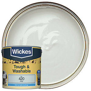 Wickes Putty - No. 420 Tough & Washable Matt Emulsion Paint - 2.5L
