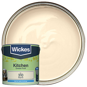 Wickes Magnolia - No. 310 Kitchen Matt Emulsion Paint - 2.5L