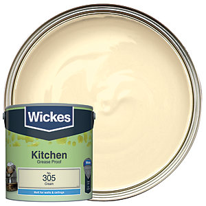 Wickes Cream - No. 305 Kitchen Matt Emulsion Paint - 2.5L