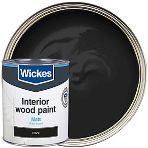 Wickes Non Drip Matt Black 750ml