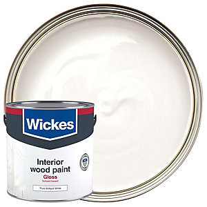 Wickes One Coat Gloss Pure Brilliant White 2.5L