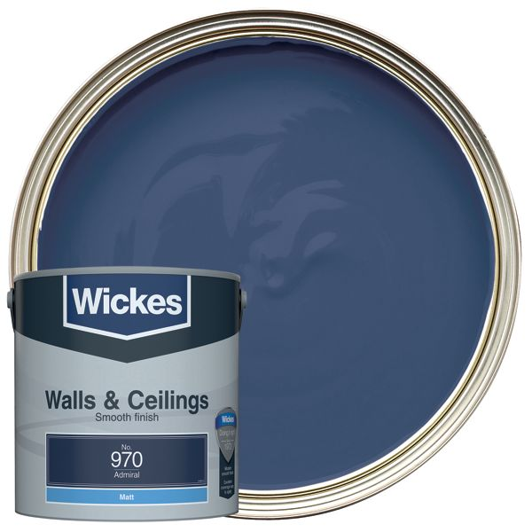 Wickes Admiral - No.970 Vinyl Matt Emulsion Paint - 2.5L