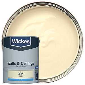 Wickes Cream - No. 305 Vinyl Matt Emulsion Paint - 5L