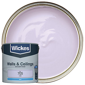 Wickes Lilac - No. 705 Vinyl Matt Emulsion Paint - 2.5L