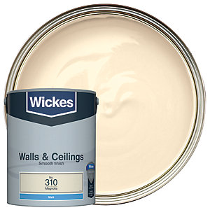 Wickes Magnolia - No. 310 Vinyl Matt Emulsion Paint - 5L