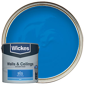 Wickes Brilliant Blue - No. 955 Vinyl Matt Emulsion Paint - 2.5L