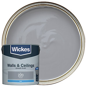 Wickes Pewter - No. 220 Vinyl Matt Emulsion Paint - 2.5L