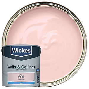 Image of Wickes Poetic Pink - No. 605 Vinyl Matt Emulsion Paint - 2.5L