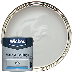 Wickes Nickel - No. 205 Vinyl Matt Emulsion Paint - 2.5L