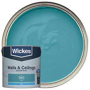 Wickes Teal - No. 940 Vinyl Matt Emulsion Paint - 2.5L