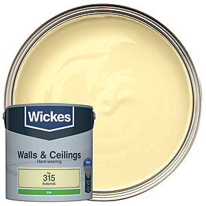 Wickes Buttermilk - No. 315 Vinyl Silk Emulsion Paint - 2.5L