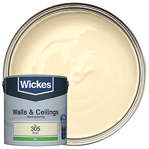 Wickes Cream - No. 305 Vinyl Silk Emulsion Paint - 2.5L
