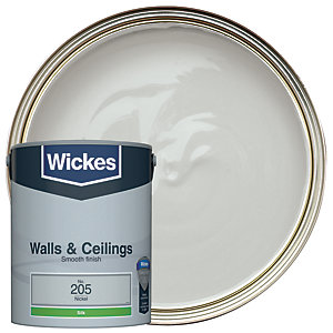 Wickes Nickel - No. 205 Vinyl Silk Emulsion Paint - 5L