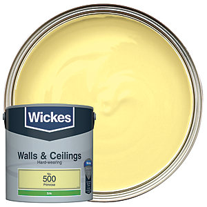 Wickes Primrose - No. 500 Vinyl Silk Emulsion Paint - 2.5L