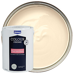 Wickes Vinyl Soft Sheen Emulsion Paint - Magnolia 5L