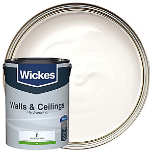 Wickes Pure Brilliant White - No. 0 Vinyl Silk Emulsion Paint - 5l