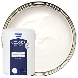 Wickes Coarse Textured Ceiling Emulsion Paint - White 5L