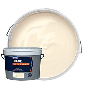 Wickes Trade Matt Emulsion Paint for New Plaster - Magnolia 10L